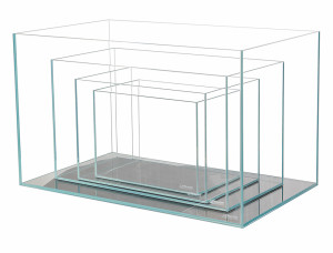 Crystal Aquariums - 4 Nested Clear
